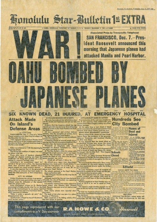 Honalulu Star Bulletin Dec 7, 1947
